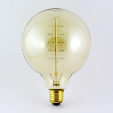 Ampoule décorative à intensité modulable VINTAGE G125 E27/40W/230V