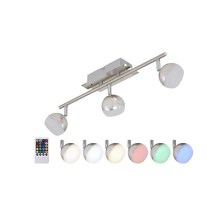 Briloner 2040-032 - Spot à intensité modulable LED RGB 3xLED/3,3W/230V + télécommande