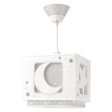 Dalber 63232E - Hanglamp kinderkamer MOON LIGHT 1xE27/60W/230V