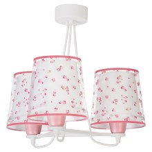 Dalber 81177S - Suspension pour enfant DREAM FLOWERS 3xE27/60W/230V