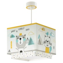 Dalber D-73242 - Suspension pour enfant HELLO LITTLE 1xE27/60W/230V