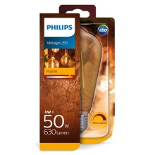 Dimbare LED Lamp Philips E27/8W/230V 2000K