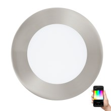 Eglo 32753 - Luminaire LED RGB encastrable à intensité modulable FUEVA-C LED/5,4W/230V Chrome mat