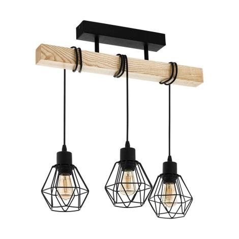 Eglo - Plafondlamp 3x E27 / 60W / 230V