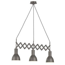 Fischer & Honsel 60273 - Suspension avec fil PULL 3xE27/40W/230V