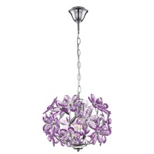 GLOBO 5143 - Suspension PURPLE 1xE27/60W/230V
