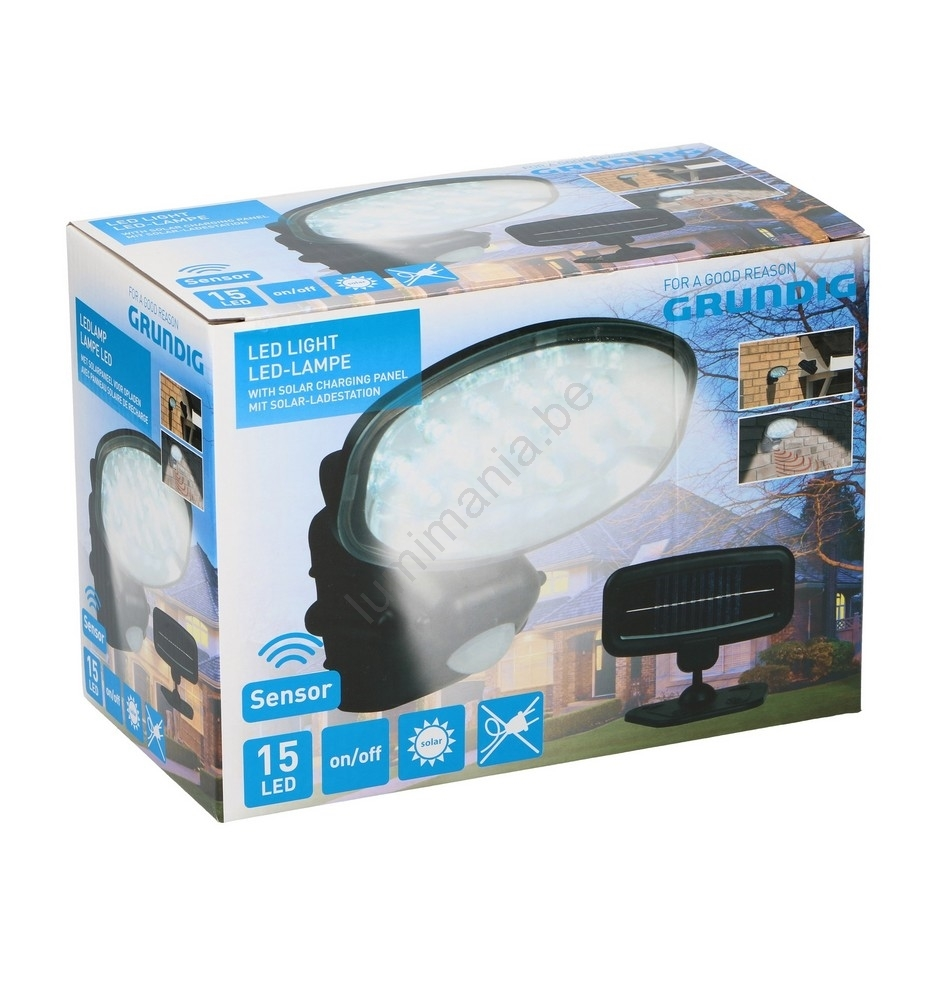 Détecteur Avec Grundig 25 Led 15xled1xaaa Solaire Ip65 Lampe I7ybgvYf6