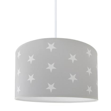 Hanglamp kinderkamer STARS GREY 1xE27/60W/230V
