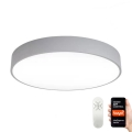Immax NEO 07143-GR80 - Dimbare LED Plafond Lamp RONDATE LED/65W/230V Tuya grijs + afstandsbediening
