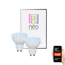 Immax NEO - 2x Ampoule LED dimmable GU10/4,8W/230V ZigBee