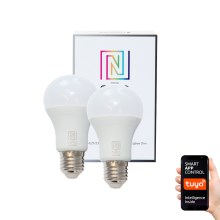 Immax NEO - 2xAmpoule LED à intensité modulable E27/8,5W/230V ZigBee