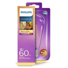 LED Lamp dimbaar Philips E27/8W/230V