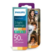 LED Lamp Philips SCENE SWITCH GU10/5W/230V 2200K-2700K