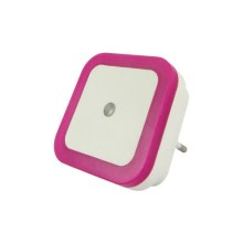 LED Nachtlamp met sensor LED/0,5W/230V roze