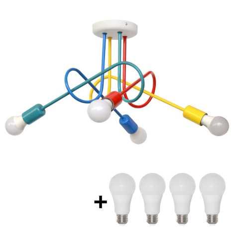 LED Plafonnière kinderkamer OXFORD 4xE27/10W/230V