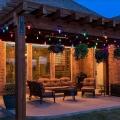 LED RGB Lichtketting voor buiten GIRLANDA 10 m 10xE27/1,5W/230V IP44