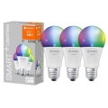 Ledvance - SET 3x LED RGB Lamp dimbaar SMART + E27 / 14W / 230V 2.700K-6.500K Wi-Fi