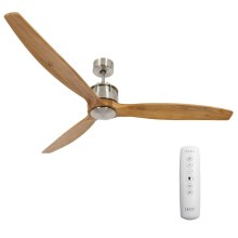 Lucci air 210506 - Ventilateur de plafond AIRFUSION AKMANI chrome/marron