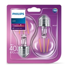 PACK 2x Ampoule LED VINTAGE Philips E27/4W/230V 2700K