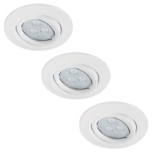 Paulmann 92027 - SET 3x LED-GU10/3,5W Spot encastrable QUALITY LINE