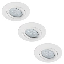 Paulmann 92029 - SET 3x Spot LED encastrable QUALITY LINE 3xGU10-LED/6,5W