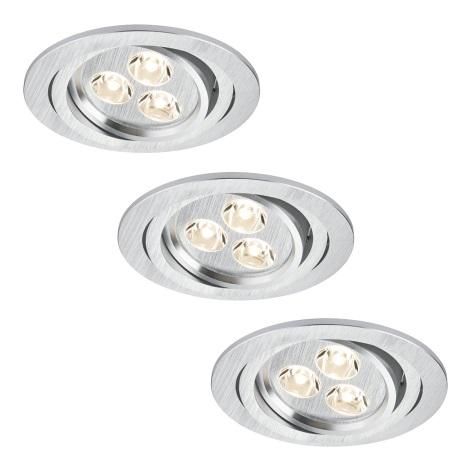 Paulmann 92530 - SET 3x Spot LED encastrable PREMIUM LINE 3xLED/3W/230V