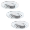 Paulmann 92765 - SET 3x Spot LED encastrable COIN 3xLED/6,8W/230V blanc