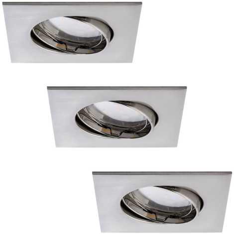 Paulmann 92773 - PACK 3x Spot encastrable LED salle de bain COIN 3xLED/6,8W/230V