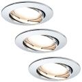 Paulmann 92780 - SET 3xLED/6,8W Spot encastrable salle de bain COIN 230V