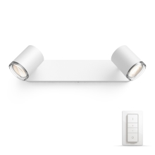 Philips 34360/31/P7 - LED Badkamerlamp dimbaar HUE ADORE 2xGU10/5,5W IP44