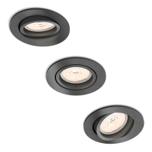 Philips 50393/99/PN - PACK 3x Luminaire encastrable DONEGAL 3xGU10/5,5W/230V