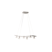 Philips Massive 40596/48/10 - Lustre suspension LED GARAUDY 6xLED/5W aluminium