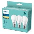 Philips Warm Witte LED Lampen 3stuks E27 / 5,5W / 230V 2700K