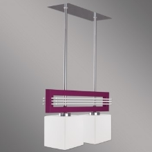 Prezent 51262 - Suspension SANGA 2xE14/60W/230V violet