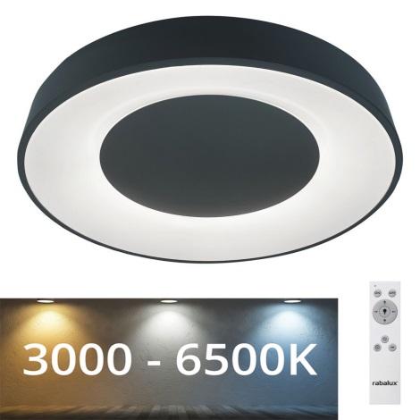Rabalux - Dimbare LED Plafond Lamp LED/38W/230V zwart + afstandsbediening 3000-6500K