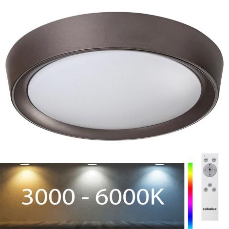Rabalux - Dimbare LED RGB Plafond Lamp LED/24W/230V + afstandsbediening 3000-6000K