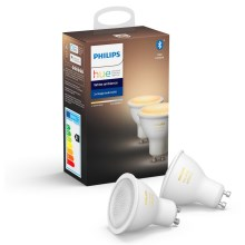 SET 2x LED Lamp dimbaar Philips HUE WHITE AMBIANCE GU10/5,5W/230V