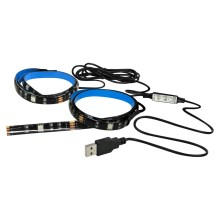 SET 2x LED RGB Strip LED-RGB/4,8W/USB TV backlight