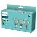 SET 3x LED Lamp VINTAGE Philips A60 E27/7W/230V 2700K