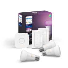 Set de base Philips HUE WHITE AND COLOR AMBIANCE 3xE27/9W/230V