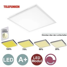 Telefunken by Briloner - Panneau LED dimmable 1xLED/36W/230V