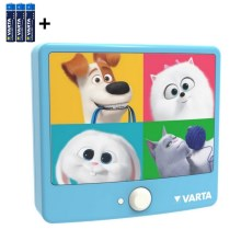 Varta 15642 - Applique murale LED enfant avec détecteur THE SECRET LIFE OF PETS LED/3xAAA