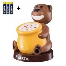 Varta 17501 - LED Kinder projectorlamp PAUL 2xLED/3xAA