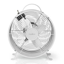 Ventilateur de table RETRO 20W/230V blanc ø25 cm